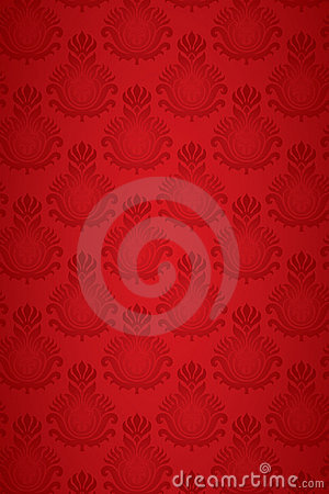 Free Seamless Damask Pattern Red Stock Images - 16046304