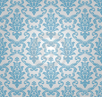 Free Seamless Damask Pattern (vector) Stock Images - 14232834
