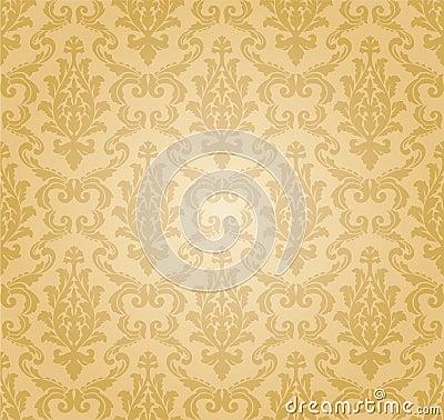 Free Seamless Damask Pattern (vector) Royalty Free Stock Image - 14684116