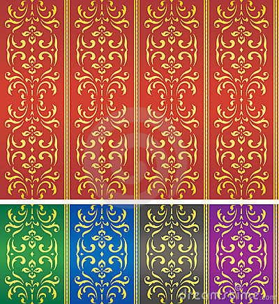 Seamless damask textile or wallpaper pattern