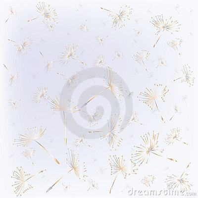 Seamless With Dandelion Seeds Stock Photo - Image: 13727310