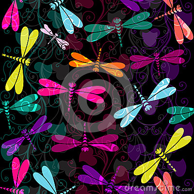Seamless dark colorful pattern
