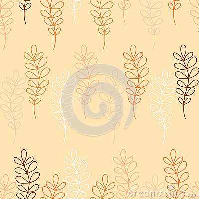 Free Seamless Decorative Background With Branches And Leaves Royalty Free Stock Images - 60245709