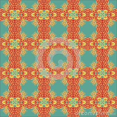Seamless decorative ribbon  pattern