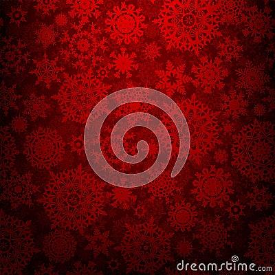 Seamless deep red christmas texture. EPS 8