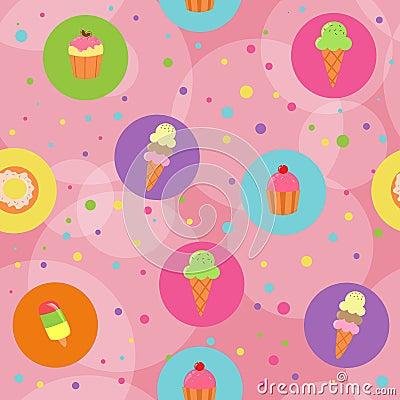 Seamless desserts background