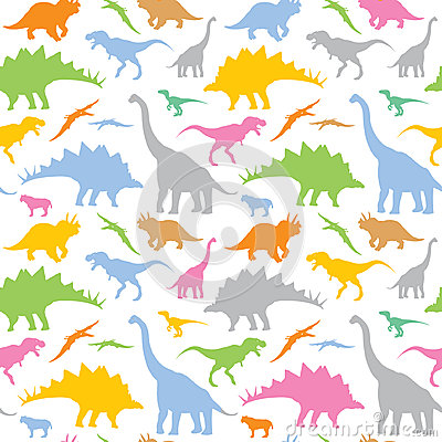 Free Seamless Dinosaur Pattern Royalty Free Stock Photography - 26523117