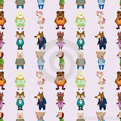 Seamless dog pattern
