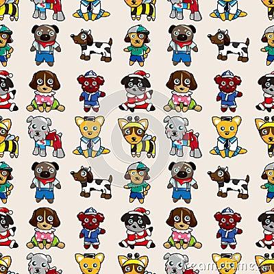 Seamless dog pattern