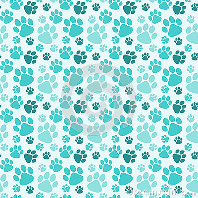 Free Seamless Dog Paw Prints Background Royalty Free Stock Images - 96804179