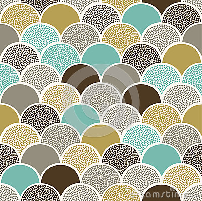 Free Seamless Doodle Dots Scallop Pattern Stock Photos - 50401973