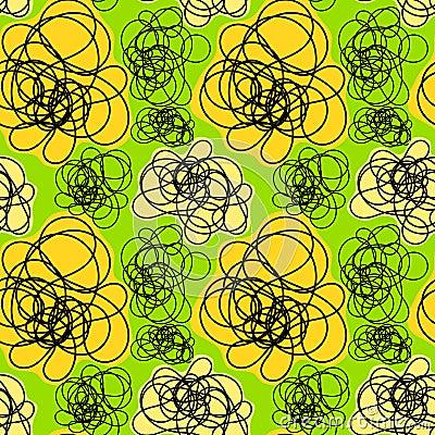 Seamless doodle smoke pattern