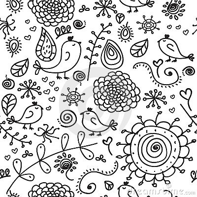 Free Seamless Doodles Stock Photos - 8969613