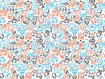 Seamless doodles pattern