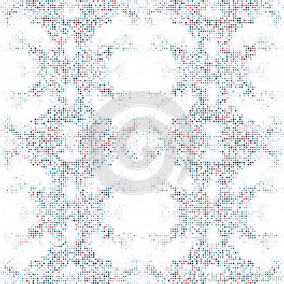 Seamless dot pattern with circles of fresh colors on a white background Vector Illustration