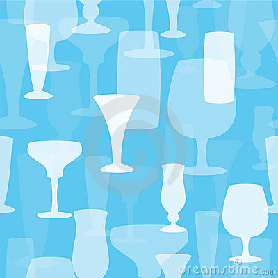 Seamless Drinking Glasses Background