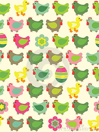 Free Seamless Easter Background Stock Image - 13378901