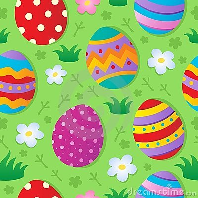 Seamless Easter theme background