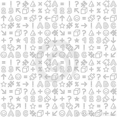 Seamless educational (back to school) pattern