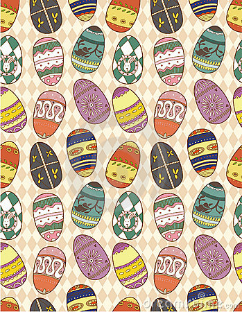 Seamless Eggs pattern