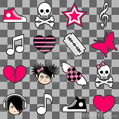 Seamless emo pattern