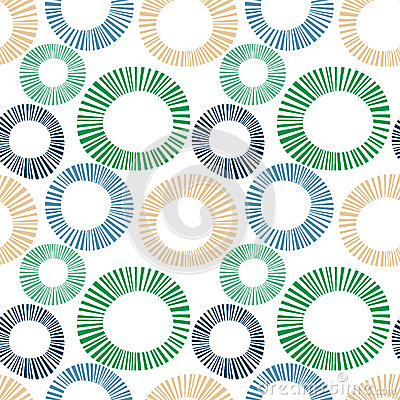 Seamless exploding striped circles