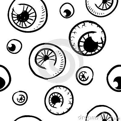 Seamless eyeball background