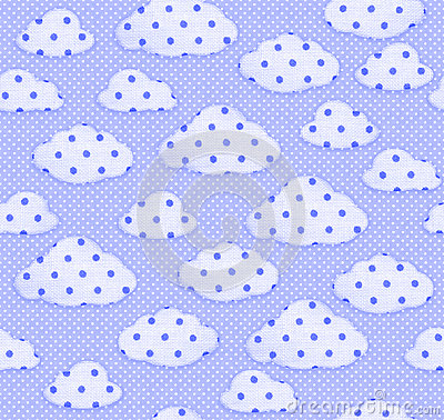 Free Seamless Fabric Pattern Blue Sky And White Clouds. Stock Photo - 70183730