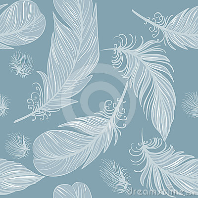 Free Seamless Feather Pattern Stock Image - 24573901