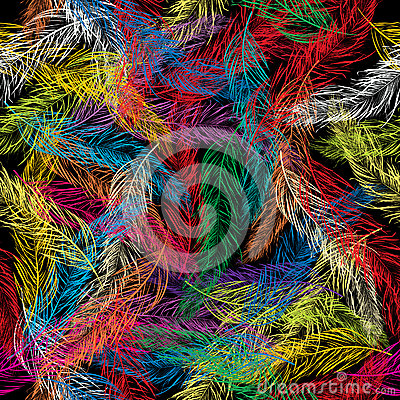 Seamless feathers illustration
