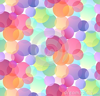 Free Seamless Festive Pattern With Multicolored Confetti On White Background. Gradient Bokeh. Stock Image - 123972211
