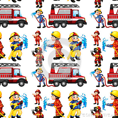 Free Seamless Firefighters Stock Image - 44147551