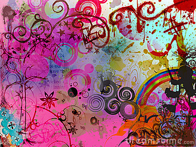 flora abstract pattern background