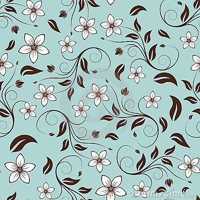 Free Seamless Floral Background Stock Photo - 10946810