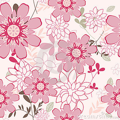 Free Seamless Floral Background Royalty Free Stock Images - 11359419