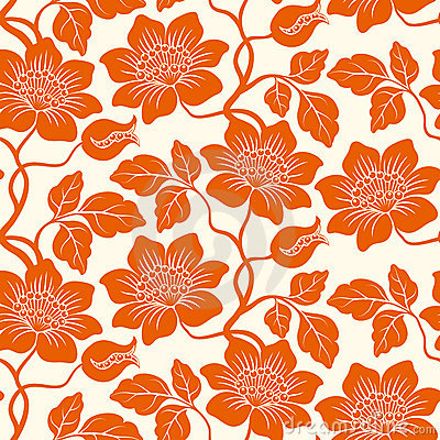 Free Seamless Floral Background. Royalty Free Stock Images - 6390549