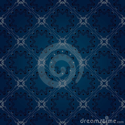 Seamless floral blue pattern