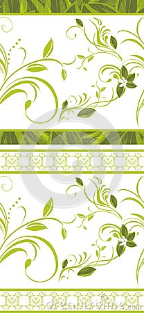 Seamless floral borders