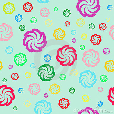 Seamless floral color pattern