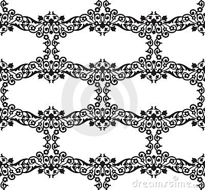 Seamless Floral Damask