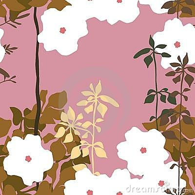 Free Seamless Floral Pattern Stock Images - 14197024