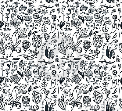 Free Seamless Floral Pattern Stock Photo - 14967170