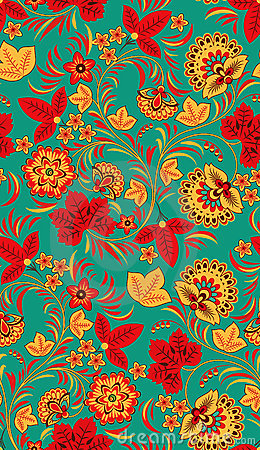 Free Seamless Floral Pattern Stock Images - 16059384