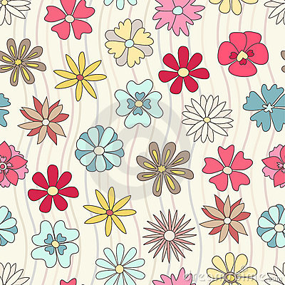 Free Seamless Floral Pattern Royalty Free Stock Photo - 16593725