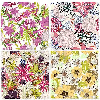 Free Seamless Floral Pattern Stock Photo - 16720210