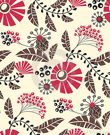 Free Seamless Floral Pattern Stock Photo - 4971700