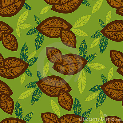 Seamless floral pattern with coffe