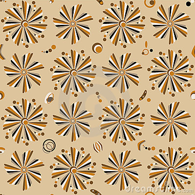 Seamless floral pattern. Retro