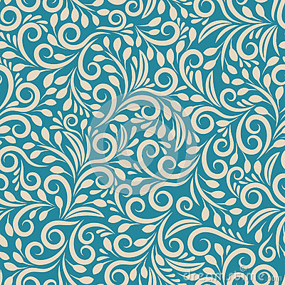 Seamless floral pattern on uniform background Vector Illustration