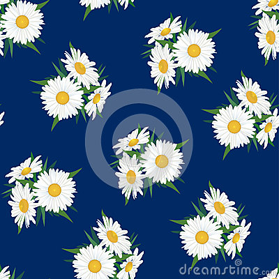 Seamless floral pattern with white flower